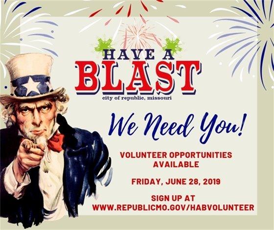 Have-A-Blast Volunteer Opportunities